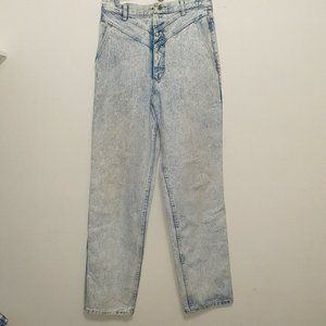 Vintage Super High Waisted Acid wash mom jeans 12